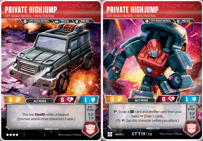 Transformers TCG Wave 4 Captain Impactor Special Ops Wrecker CT T02
