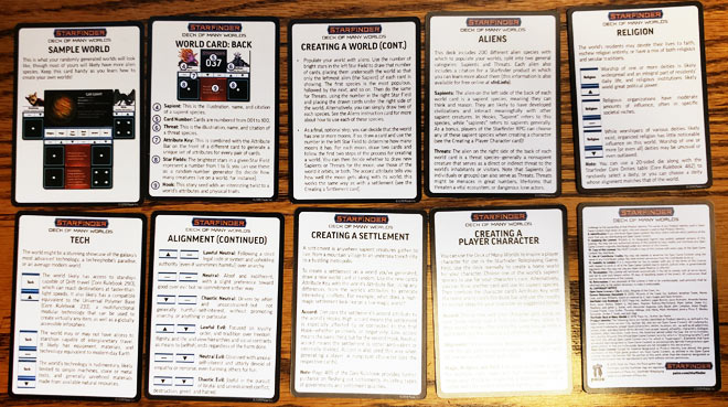 Deck of Many Worlds Instruction Cards (Back)