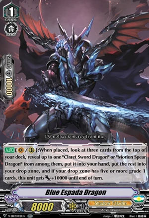Blue Espada Dragon (V Series)