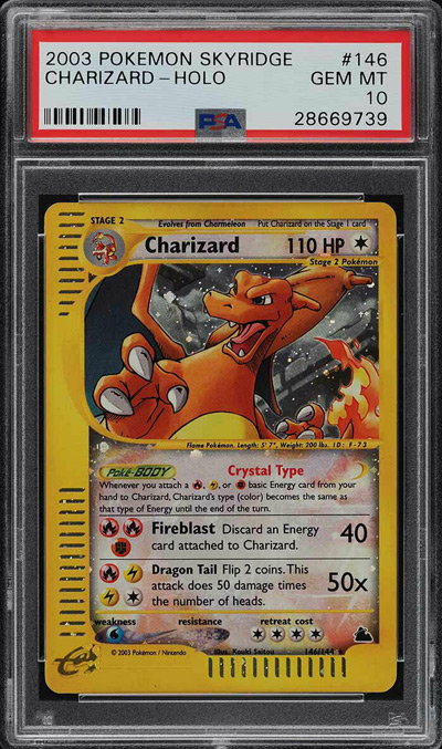 2003 Pokemon Skyridge Holo Charizard #146 PSA 10 GEM MINT