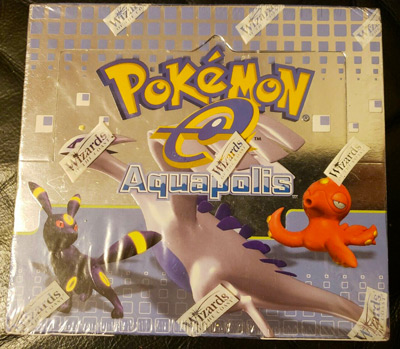 AQUAPOLIS POKEMON BOOSTER BOX SEALED ENGLISH WIZARDS OF THE COAST