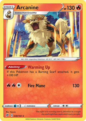 Arcanine (Rebel Clash RCL 28)
