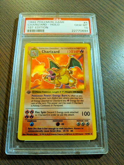 Pokemon PSA 10 1st edition BASE SHADOWLESS CHARIZARD #4 - GEM MINT!