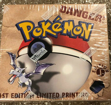 1999 WOTC Pokemon 1st Edition Fossil Booster Box Sealed Investment Grade New