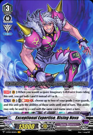 Exceptional Expertise, Rising Nova (V Series)