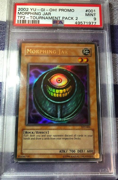 2002 YuGiOh Promo TP2-001 Morphing Jar PSA 9 Mint Tournament Pack 2