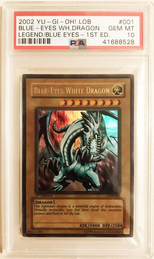 Yugioh 1st Edition Wavy Lob LOB-001 Blue Eyes White Dragon PSA 10 Gem Mint