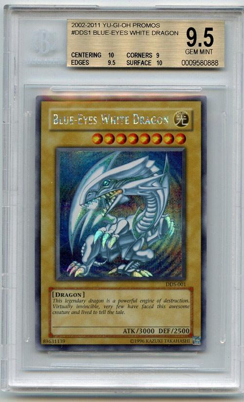 Yu-Gi-Oh! Dark Duel Stories Blue-Eyes White Dragon DDS-001 Secret Rare BGS 9.5