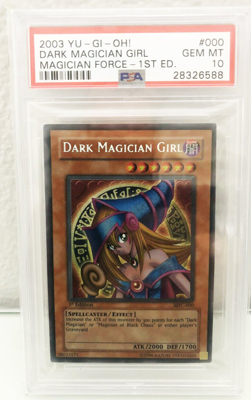 Yugioh MFC Magician's Force 1st Edition Dark Magician Girl Psa 10!