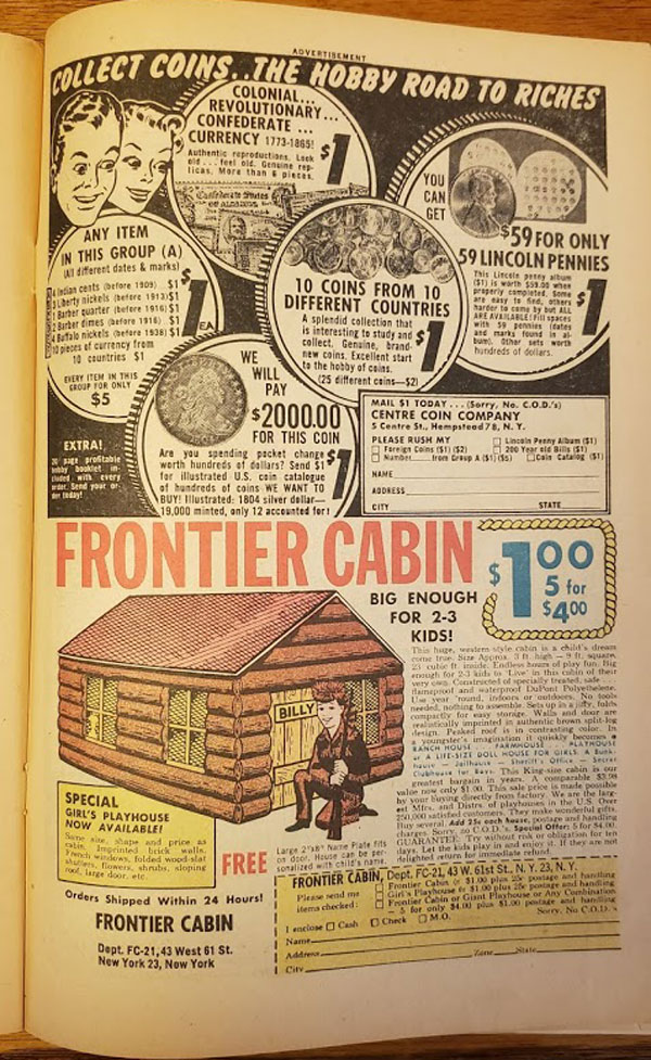 Coins and cabins