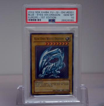 Yu-Gi-Oh! Blue-Eyes White Dragon 2002 SDK-E001 1st Edition PSA 10