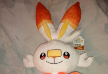 Scorbunny plush at Build-a-Bear