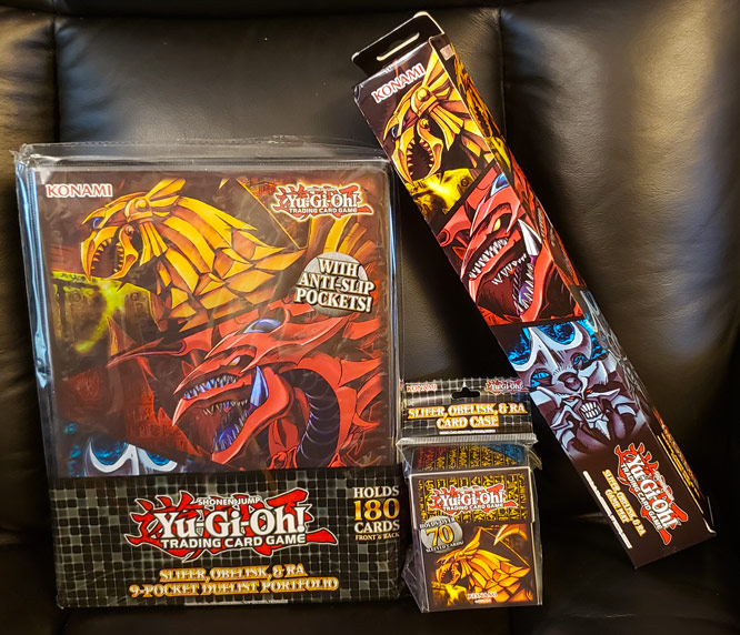Slifer, Obelisk, & Ra TCG Accessories are in stores now!