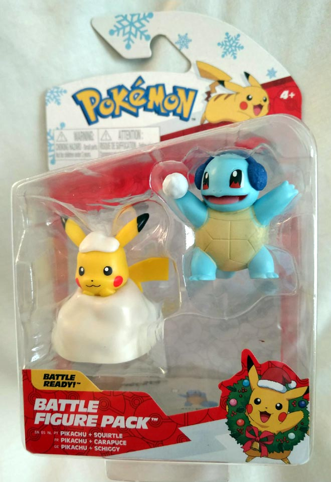 snowbound Pikachu and snowball wielding Squirtle!